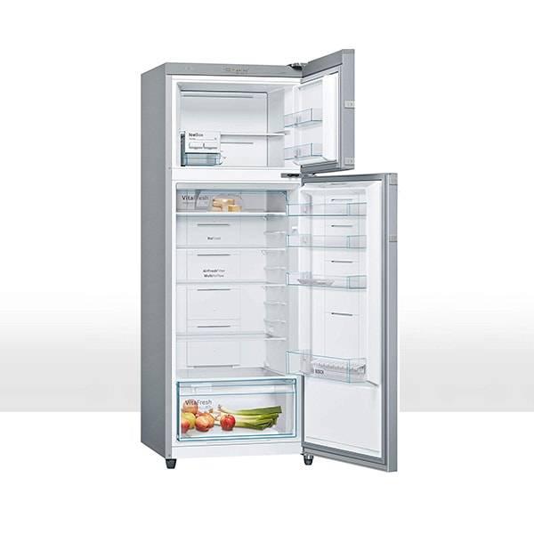Bosch 347 L Frost Free Double Door 3 Star Refrigerator (Silver, KDN43VL30I)