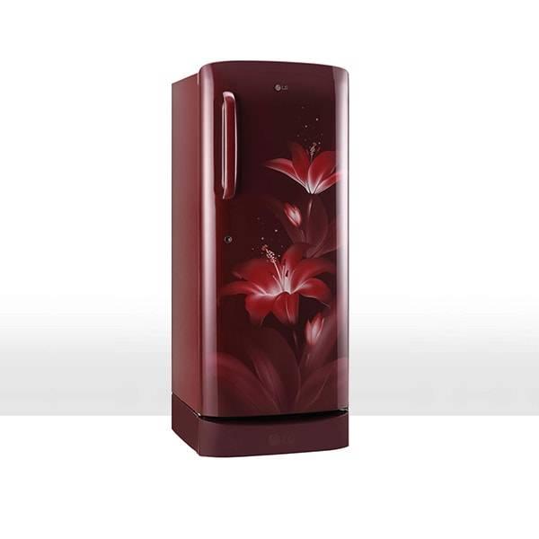 LG 235 L Direct Cool Single Door 5 Star Refrigerator (Ruby Glow, GL-D241ARGY)