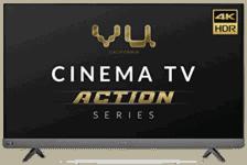 Vu 164cm Cinema TV Action Series 4K Ultra HD LED Smart Android TV
