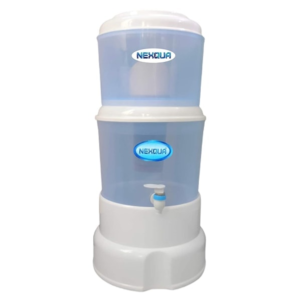 Nexqua Dew Gravity Based Carbon Non-Electric Water Purifier and Filter with Combined 15L Storage